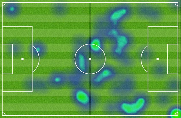 Rooney's heat map from Wednesday night shows his desire to help out the midfield and attack