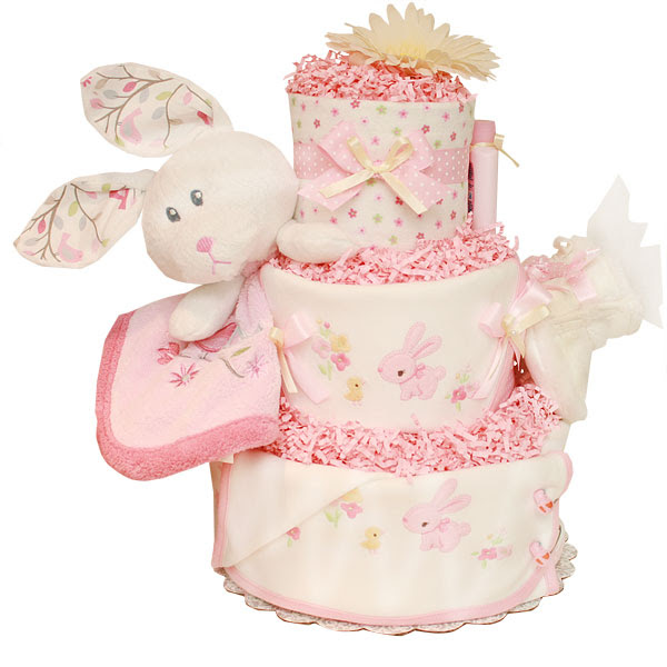 Bunny diapers cake