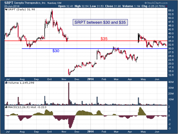 1-year chart of SRPT (Sarepta Therapeutics, Inc.)