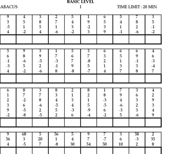 29 PDF ABACUS WORKSHEETS LEVEL 1 PRINTABLE ZIP DOCX ...