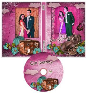 Wedding DVD Cover Template Psd Free Download in 2019