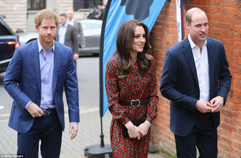 Cheerful Kate was all smiles as she arrived at the event, but Harry looked to be in more sombre form after saying goodbye to his Toronto-based girlfriend