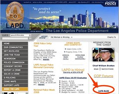official website of THE LOS ANGELES POLICE DEPARTMENT