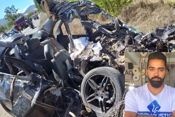 Educador físico morre após batida de carro com ônibus que transportava alunos para o Enem