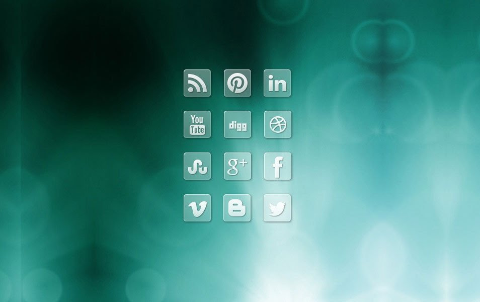 Clear Transparent Social Media Icons