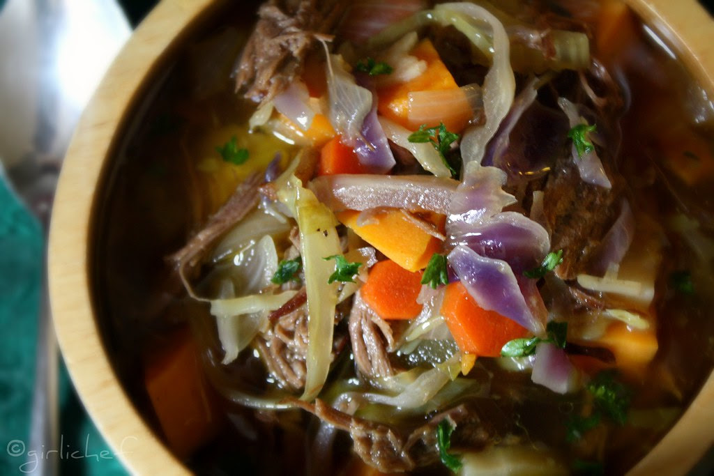 Wintery Vegetable Beef Soup GIRLICHEF