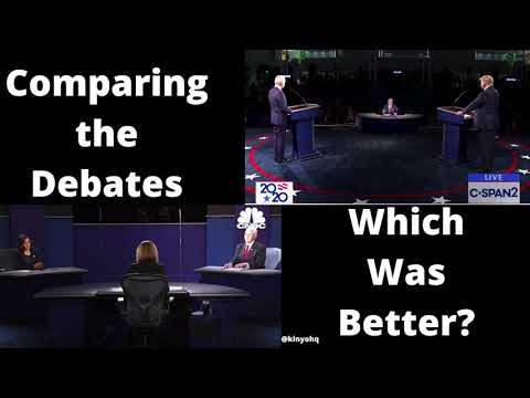 Comparing the Debates - Biden & Trump Vs. Pence & Harris #News
