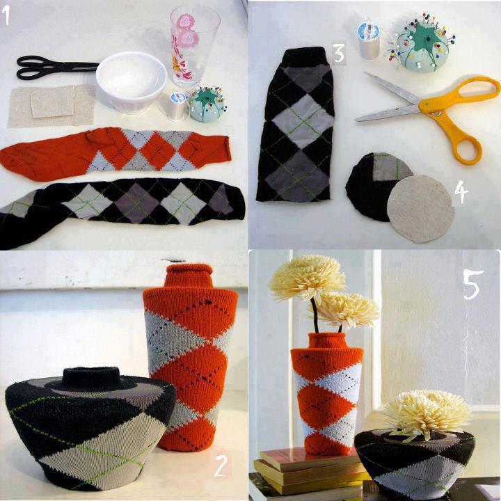 casa da arte vaso com meias