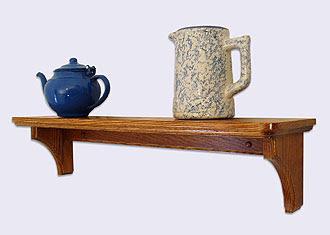 Oak Wood Wall Shelf | Decorative Wall Mounted Shelves | Wood Pens ...