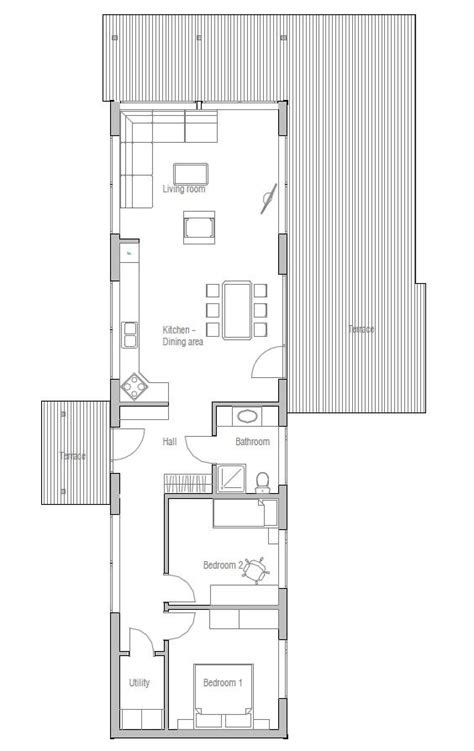 small house plan  bedrooms suitable  narrow lot