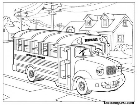 980 Top Coloring Pages School Bus Download Free Images