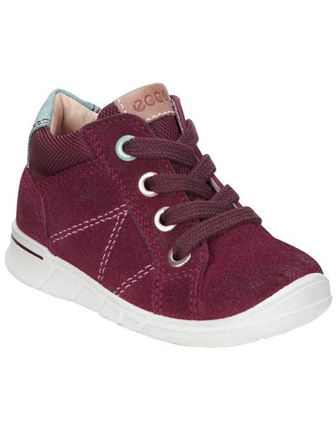 ECCO Children's Lace Up Suede Logo Shoes at John Lewis