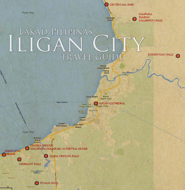 Iligan City Tourist Spot Map
