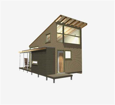 modern small house design loft  huge windows