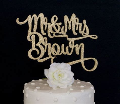 Custom Name Mr and Mrs Wedding Cake Topper   Personalized