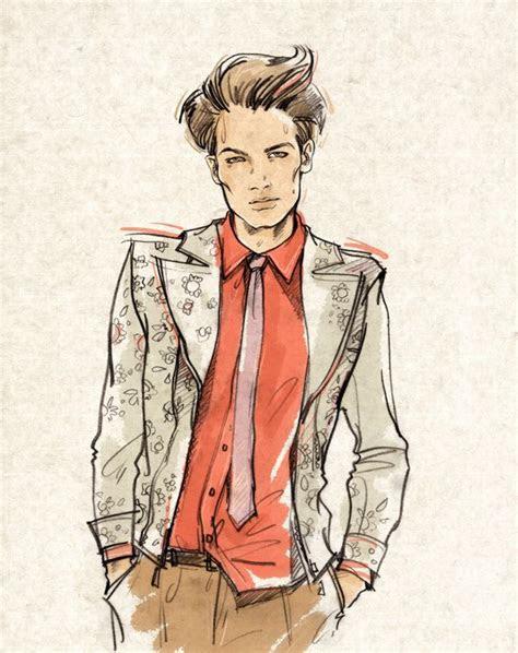 mens fashion illustration  alena lavdovskaya
