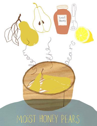 moist honey pears