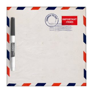airmail envelope dry erase board