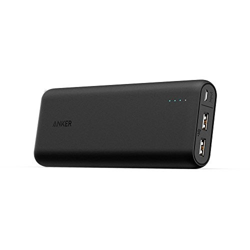 Anker PowerCore 20100 (20100mAh 2ポート 超大容量 モバイルバッテリー パナソニック製セル搭載) iPhone / iPad / Xperia / Galaxy / Android各種他対応 マット仕上げ トラベルポーチ付属【PowerIQ & VoltageBoost搭載】