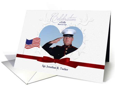 Military   Celebration of Life Service Invitation