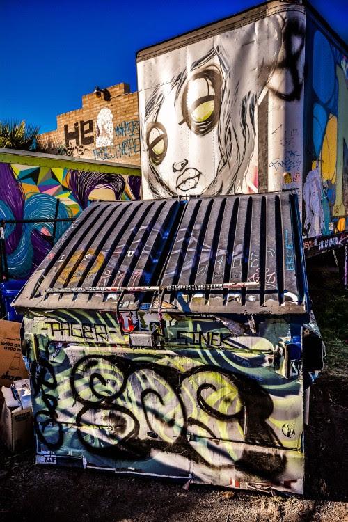 jimmstorment:  James M Storment© Graffiti… Phoenix AZ… BEAUTY IS REALLY IN  THE EYE OF THE BEHOLDER