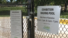 Wading pool rules posted