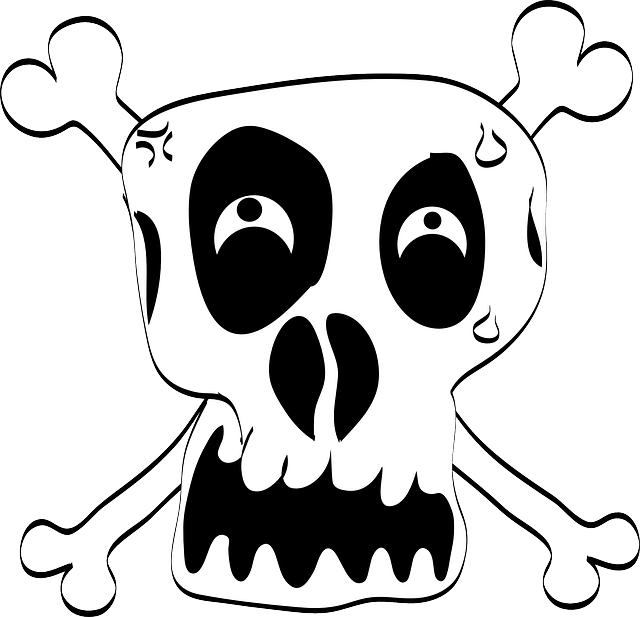 Loco, Peligro, Cráneo, Calavera, Skull And Crossbones