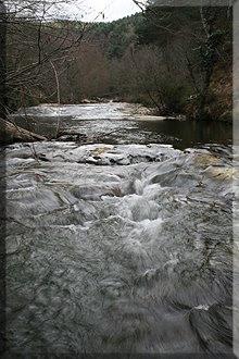 Río Baias a su paso por el Pte. de Aldarro