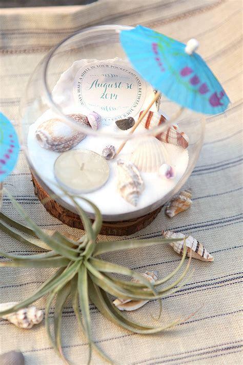 Beach Wedding Tea Light Centerpieces   Wedding Inspiration