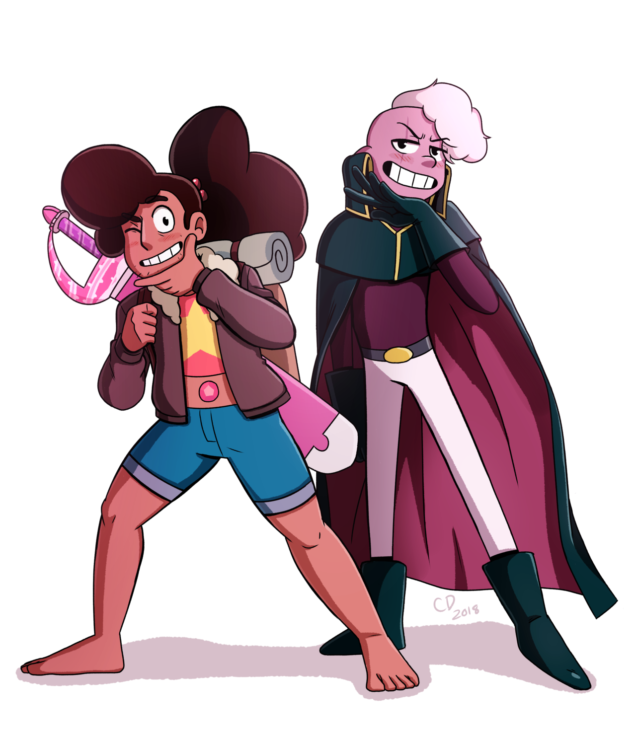 "The #StevenUniverse ""Stranded"" episodes are some of my favorites of the whole series! Stevonnie and Lars are two of my favorite characters so I was super happy seeing them get a lot of focus."