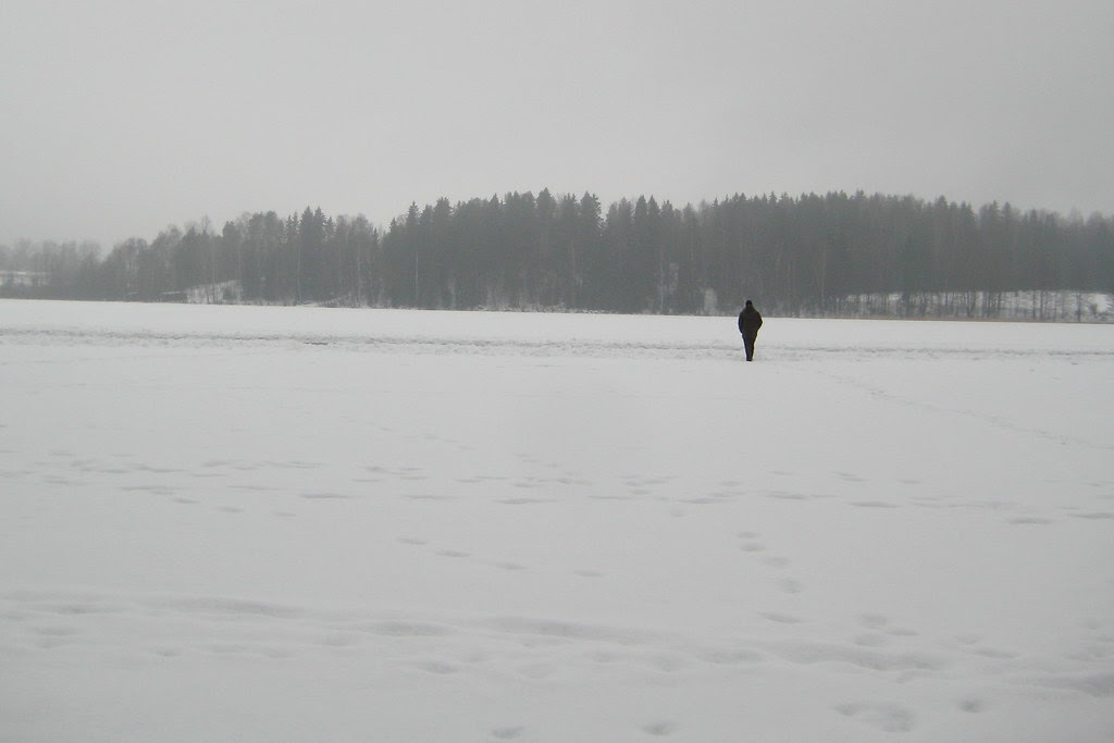Tuusula lake in winter