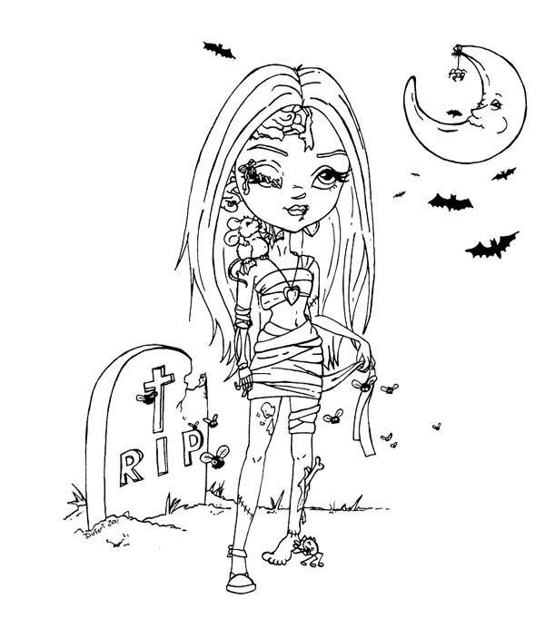 Disney Zombie Coloring Pages - Coloring And Drawing