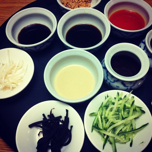 sauces for 上海冷面 at gongdelin