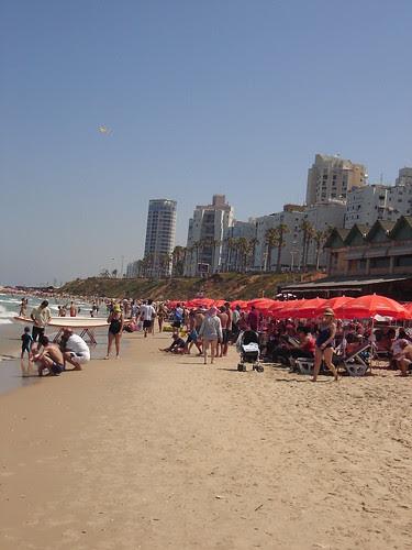 Beach just outside Tel Aviv