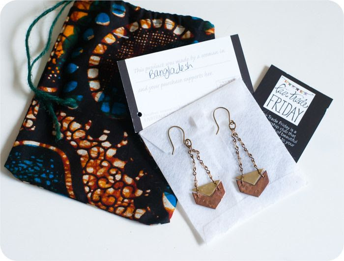 fair trade friday's earring of the month club