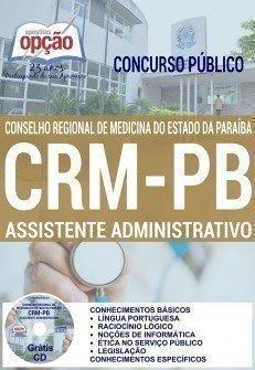 Apostila Concurso CRM Paraíba Assistente Administrativo