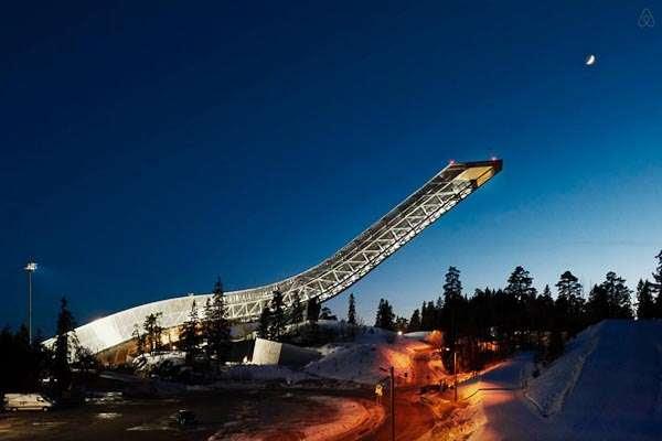Holmenkollen - Penthouse on a Ski Jump (Oslo/Norway)