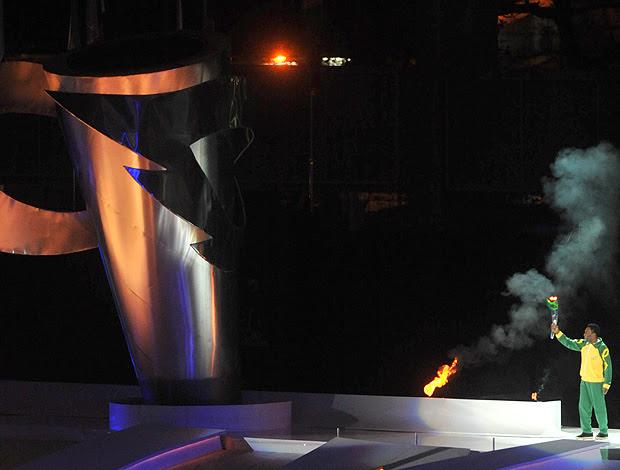 Pelé Abertura Jogos Militares (Foto: Ag. Estado)