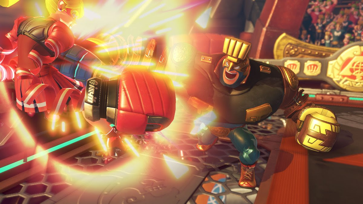 ARMS' new character looks like an F-Zero racer screenshot