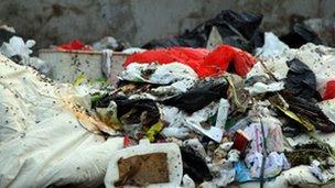 Rubbish pile