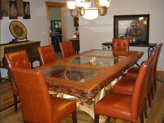 elegant rustic dining room table