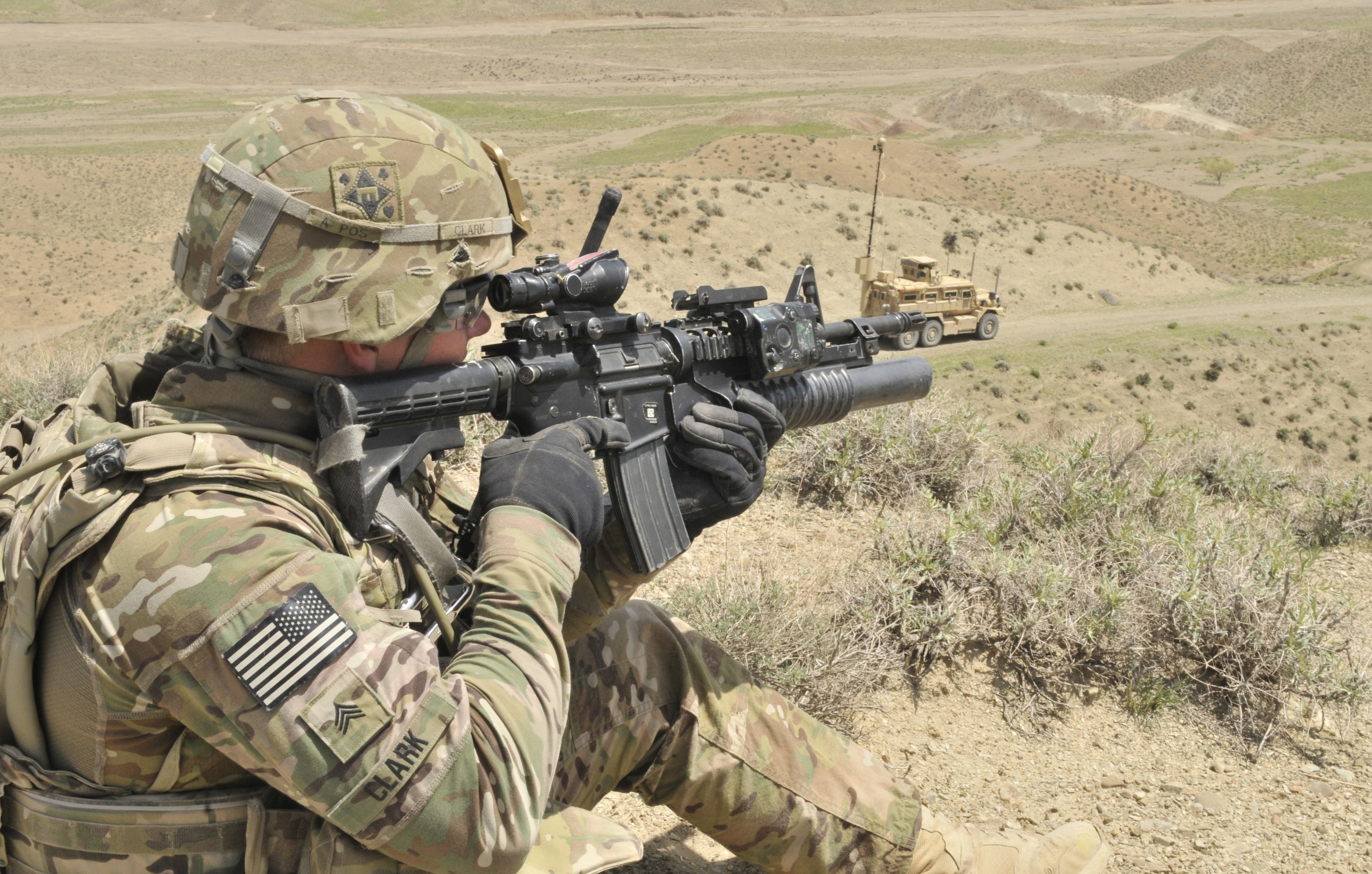 File:U.S. Army Sgt. Joshua Clark with the 591st Engineer ...