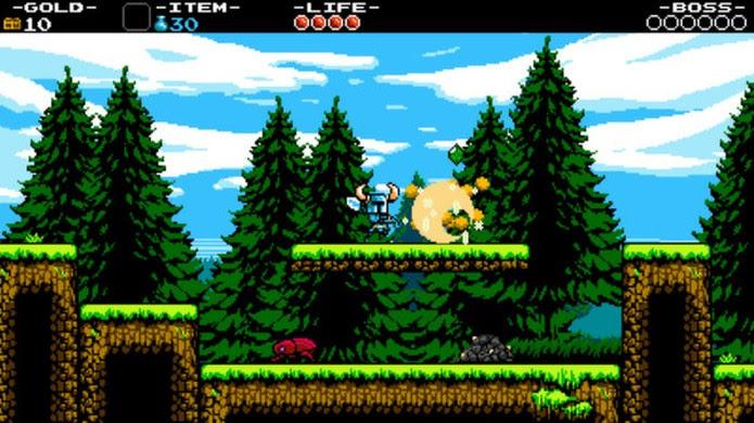 Shovel Knight traz visaul retrô e ação no nível dos clássicos games dos 8 Bits (Foto: Reprodução/Steam)