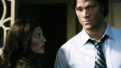 Genevieve Cortese as 'Ruby' with Jared Padalecki on SUPERNATURAL [click to enlarge]