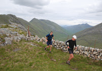 Spyke and Digby Harris on the South Glen Shiel ridge