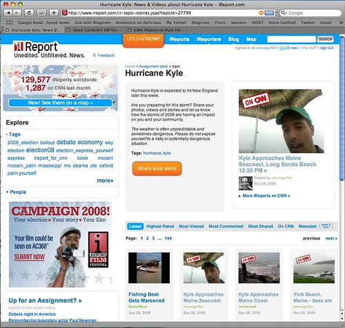 CNN iReport Top Three Hurricane Kyle Reports