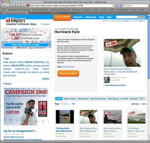 CNN iReport Top Three Hurricane Kyle Reports