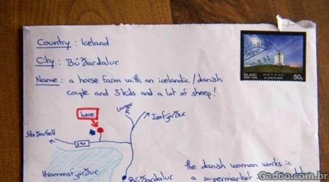 Um cara desesperado desenhou um mapa ao invés do endereço
