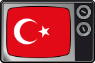 Television set with Turkish flag for Wikipedia...