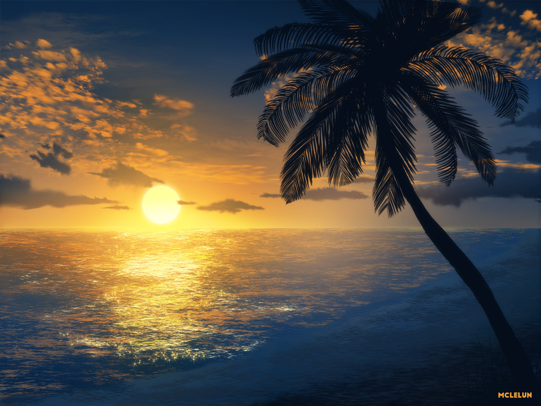 Painting Evening Beach